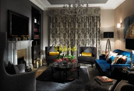 Flemings lounge with sofas and easy chairs
