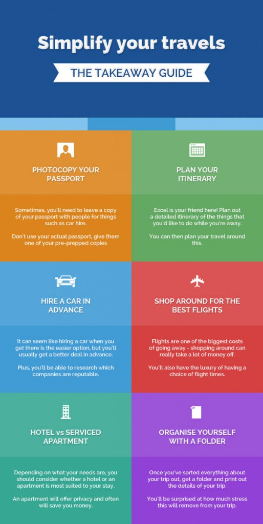 Simplify your travels: infographic with ideas to reduce stress when travelling